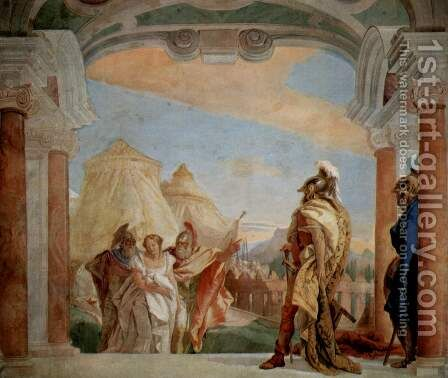 Eurybates and Talthybios Lead Briseis to Agamemmon 1757 by Giovanni Battista Tiepolo - Reproduction Oil Painting