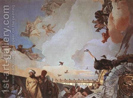 Glory of Spain (detail-2) 1762-66 by Giovanni Battista Tiepolo - Reproduction Oil Painting
