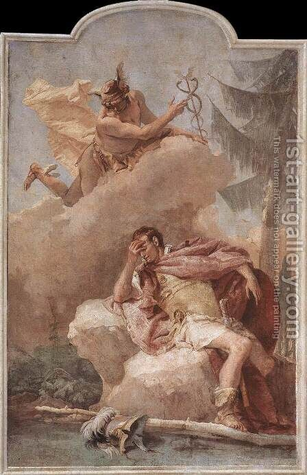 Mercury Appearing to Aeneas 1757 by Giovanni Battista Tiepolo - Reproduction Oil Painting