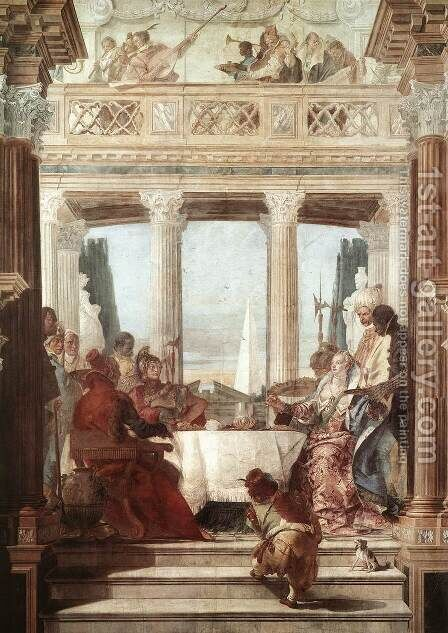The Banquet of Cleopatra 1746-47 by Giovanni Battista Tiepolo - Reproduction Oil Painting