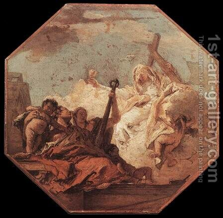 The Theological Virtues c. 1755 by Giovanni Battista Tiepolo - Reproduction Oil Painting