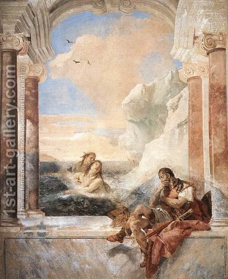 Thetis Consoling Achilles 1757 by Giovanni Battista Tiepolo - Reproduction Oil Painting