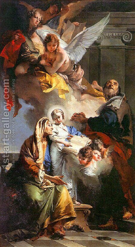 The Education of the Virgin Mary  1732 by Giovanni Battista Tiepolo - Reproduction Oil Painting