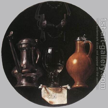 Emblematic Still-Life 1614 by Jan Symoonisz. (Johannes) Torrentius - Reproduction Oil Painting