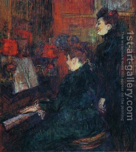 Portrait of Comtesse Adele-Zoe de Toulouse-Lautrec (The Artist's Mother) 1883 by Toulouse-Lautrec - Reproduction Oil Painting