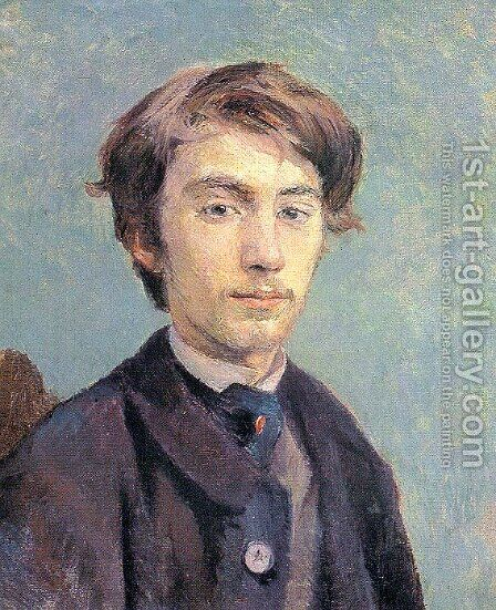 Portrait of the Artist Emile Bernard 1886 by Toulouse-Lautrec - Reproduction Oil Painting
