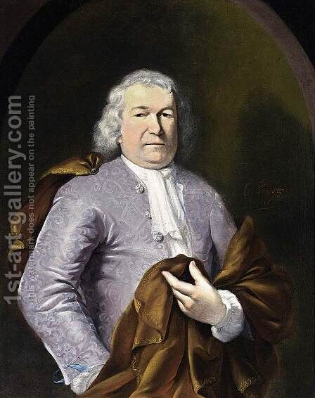 Portrait of a Gentleman 1716 by Cornelis Troost - Reproduction Oil Painting