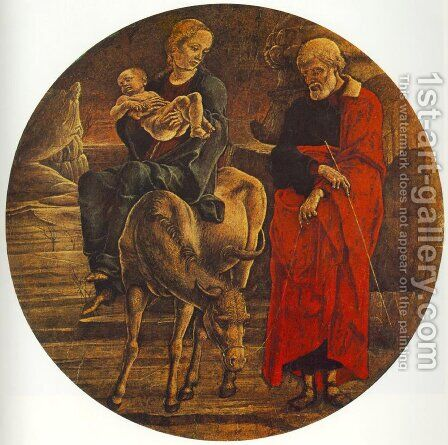 Flight to Egypt (from the predella of the Roverella Polyptych)  1474 by Cosme Tura - Reproduction Oil Painting