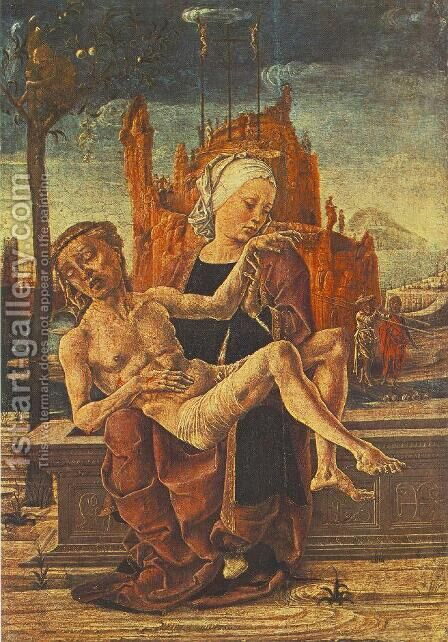 Pieta  1460 by Cosme Tura - Reproduction Oil Painting