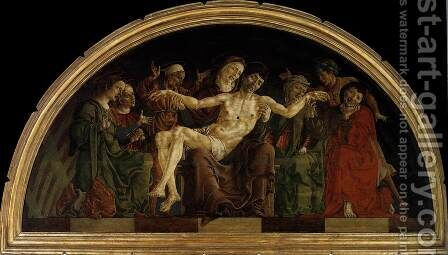 Pieta  (panel from the Roverella Polyptych)  1474 by Cosme Tura - Reproduction Oil Painting