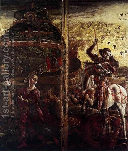 St George and the Princess 1469 by Cosme Tura - Reproduction Oil Painting