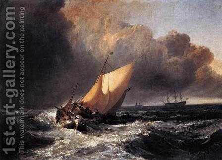 Dutch Boats in a Gale 1801 by Turner - Reproduction Oil Painting