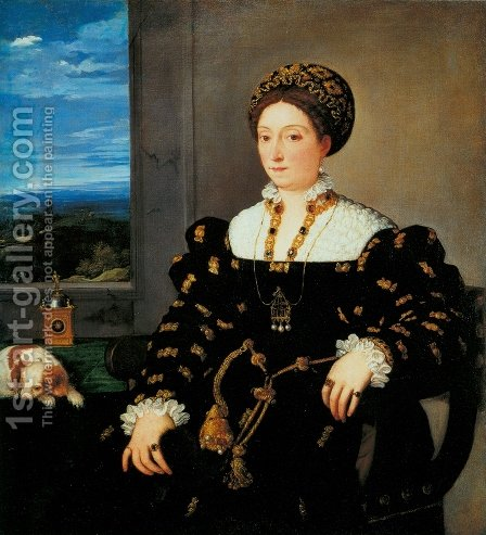 Eleonora Gonzaga c. 1538 by Tiziano Vecellio (Titian) - Reproduction Oil Painting