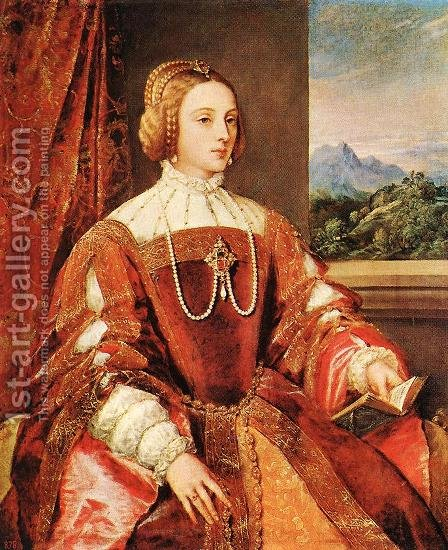 Empress Isabel of Portugal 1548 by Tiziano Vecellio (Titian) - Reproduction Oil Painting