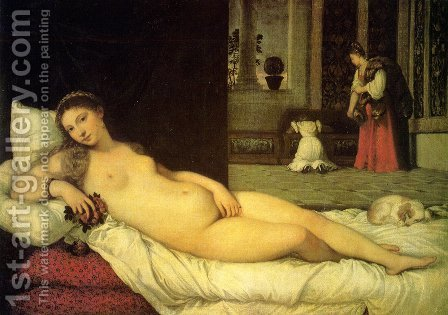 The Venus of Urbino 1538 by Tiziano Vecellio (Titian) - Reproduction Oil Painting