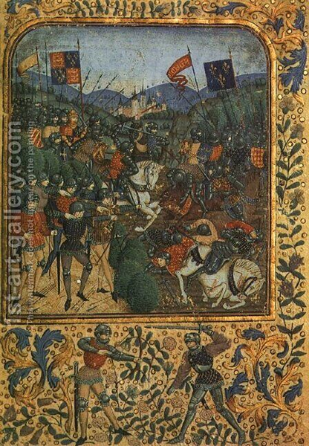 The Battle of Agincourt by British Unknown Master - Reproduction Oil Painting