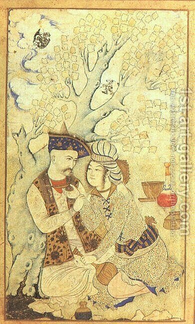 Shah Abbas I,  1627 by Iranian Unknown Masters - Reproduction Oil Painting