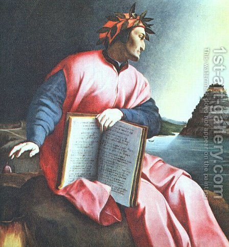 Allegorical Portrait of Dante 1530 by Italian Unknown Masters - Reproduction Oil Painting