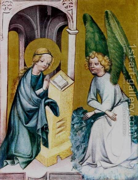 The Annunciation c. 1410 by Bohimian Unknown Masters - Reproduction Oil Painting