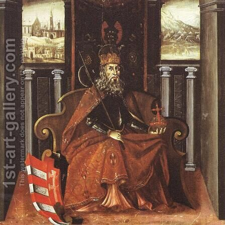 Saint Ladislaus, King of Hungary c. 1600 by Hungarian Unknown Masters - Reproduction Oil Painting