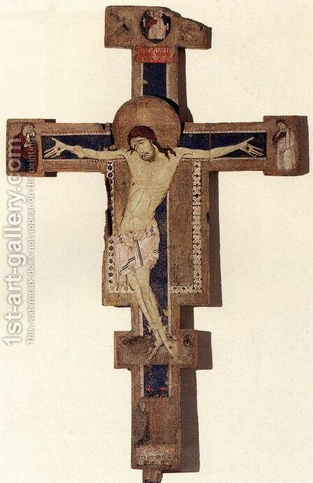 Crucifix 1257 by Italian Unknown Masters - Reproduction Oil Painting