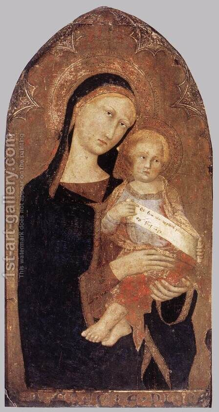 Madonna and Child 1330s by Italian Unknown Masters - Reproduction Oil Painting