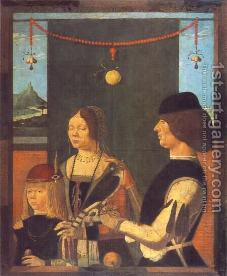 Family of Uberto de' Sacrati 1480s by Italian Unknown Masters - Reproduction Oil Painting