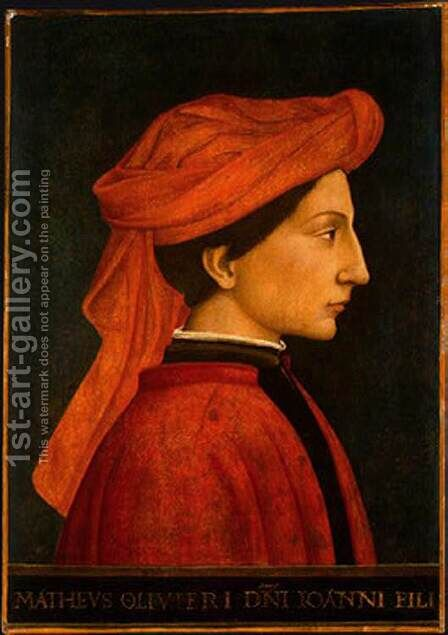 Matteo Olivieri 1440-50 by Italian Unknown Masters - Reproduction Oil Painting
