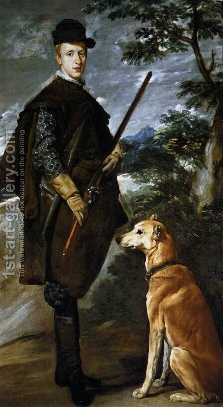 Cardinal Infante Don Fernando as a Hunter 1632-33 by Velazquez - Reproduction Oil Painting