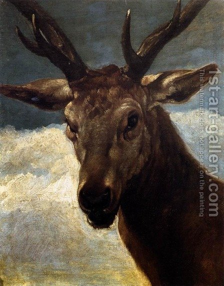 Head of a Stag 1626-27 by Velazquez - Reproduction Oil Painting