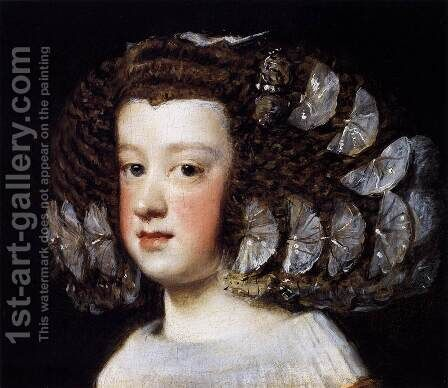 Infanta María Teresa 1651-52 by Velazquez - Reproduction Oil Painting