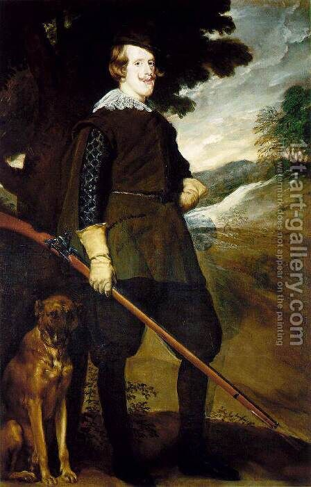 King Philip IV as a Huntsman 1634-35 by Velazquez - Reproduction Oil Painting
