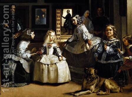 Las Meninas (detail-1) 1656-57 by Velazquez - Reproduction Oil Painting
