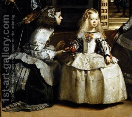 Las Meninas (detail-3) 1656-57 by Velazquez - Reproduction Oil Painting