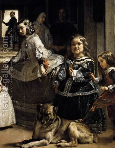 Las Meninas (detail-6) 1656-57 by Velazquez - Reproduction Oil Painting