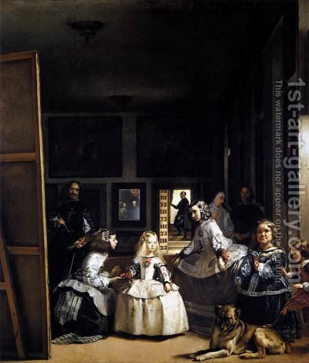 Las Meninas or The Family of Philip IV 1656-57 by Velazquez - Reproduction Oil Painting