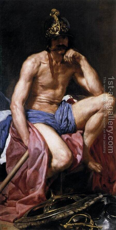 Mars, God of War c. 1640 by Velazquez - Reproduction Oil Painting