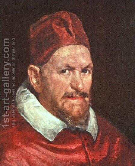 Pope Innocent X c. 1650 by Velazquez - Reproduction Oil Painting