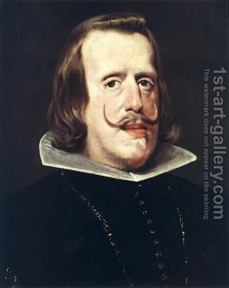 Portrait of Philip IV 1652-53 by Velazquez - Reproduction Oil Painting