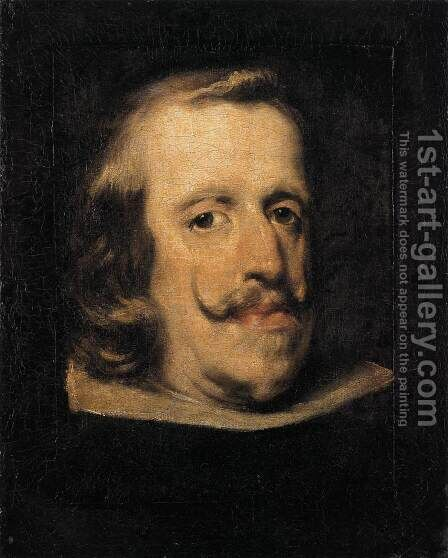 Portrait of Philip IV (fragment) 1657-60 by Velazquez - Reproduction Oil Painting