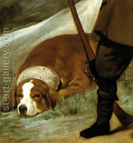Prince Baltasar Carlos as Hunter (detail) 1635-36 by Velazquez - Reproduction Oil Painting