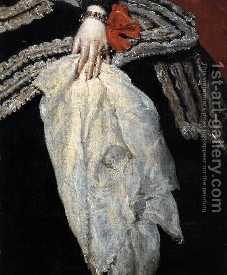 Queen Dona Mariana of Austria (detail) 1652-53 by Velazquez - Reproduction Oil Painting