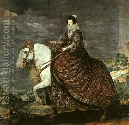 Queen Isabel of Bourbon Equestrian 1634-35 by Velazquez - Reproduction Oil Painting