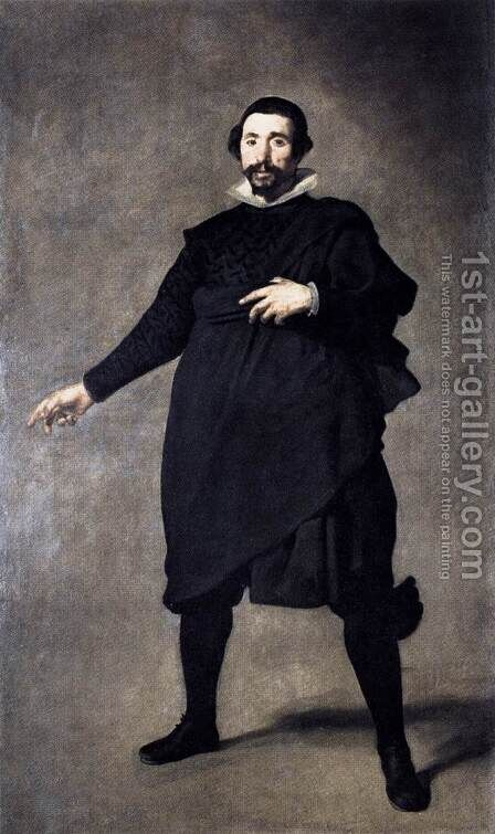 The Buffoon Pablo de Valladolid 1636-37 by Velazquez - Reproduction Oil Painting