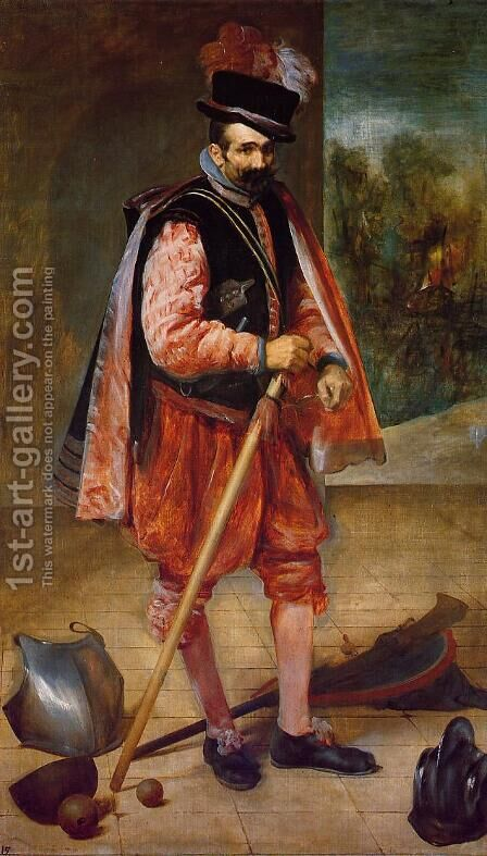 The Jester Known as Don Juan de Austria 1632-35 by Velazquez - Reproduction Oil Painting