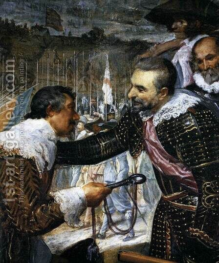 The Surrender of Breda (detail-3) 1634-35 by Velazquez - Reproduction Oil Painting