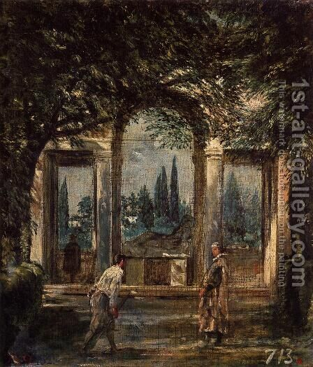 Villa Medici, Pavillion of Ariadne 1630 by Velazquez - Reproduction Oil Painting