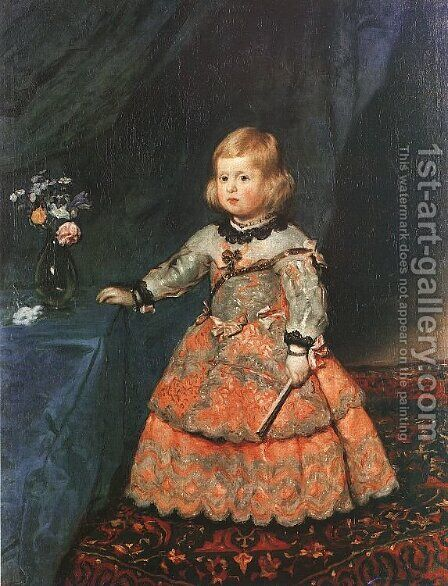 The Infanta Margarita 1653 by Velazquez - Reproduction Oil Painting