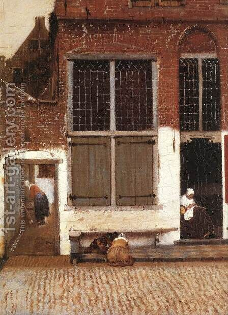 The Little Street (detail-3) 1657-58 by Jan Vermeer Van Delft - Reproduction Oil Painting