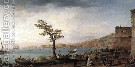 View of Naples 1748 by Claude-joseph Vernet - Reproduction Oil Painting
